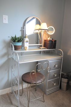 How I organize my bedroom: my vanity  I'm not sure about you, but I LOVE having a vanity! I remember, even as a young teen, that I found an old vanity and fixed it up and turned it into my place to put on my make-up and do my hair.