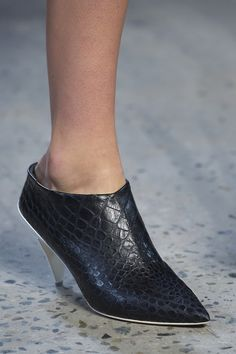 Designer @narcisostudio just gave birth to a new hybrid shoe ; part mule, part shoe,part boot, part stiletto - entirely immense. #NYFW #MBFW #SS15