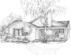 Interesting Find A Career In Architecture Ideas. Admirable Find A Career In Architecture Ideas. Landscape Architecture Drawing, Landscape Sketch, Landscape Drawings, Landscape Designs, Landscape Plans, House Landscape, House Sketch, House Drawing, Drawing Commissions