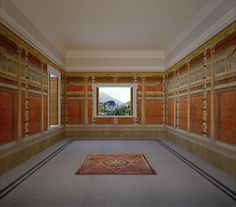 Villa reconstruction 2, Pompeii, Italy on Behance ~ The reconstructed frescoes room N are based on drawings by Felice Barnabei