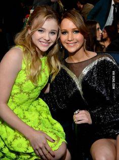 Chloe Moretz ✾ and Jennifer Lawrence ✾