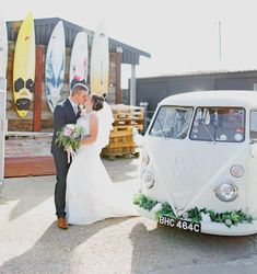 The White Van Wedding Company - An Awesome VW Camper Wedding Van Wedding Car Hire, Wedding Company, Wedding Venues, Wedding Ideas, Photo Booth Equipment, White Vans, Vw Camper, Retro Cars, Traditional Wedding