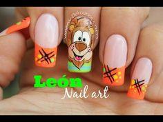 Deko Uñas by Diana Diaz Lion Nails, Get Nails, Pedicure, Nail Art Designs, Lily, Neutral Nails, Imagines, Youtube, Nail Bling