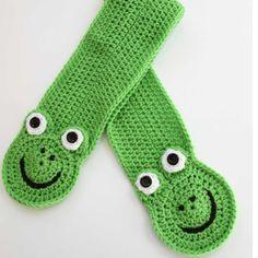 NEW - Little Frog Pocket Scarf Crochet Pattern - PDF. $4.99, via Etsy.