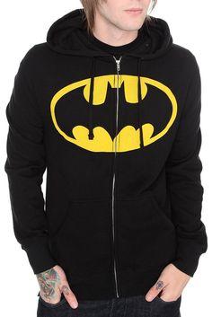 DC comics batman zip-up hoodie - $48