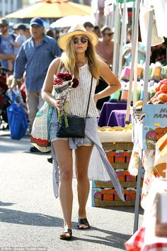 Thanks a bunch! Elizabeth Olsen made a stop at the local farmers' market in Studio City to...