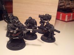 Mikeymajq's Warhammer workshop: Customizing some Iron hand Scouts