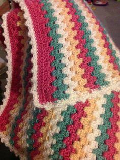Ravelry: Libbity's Granny Stripes Baby Blanket