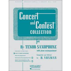 Hal Leonard Concert And Contest Collection B Flat Tenor Saxophone Solo