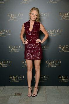 beautiful dress & beautiful blake wearing gucci
