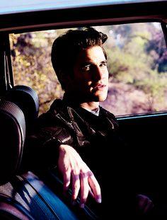 Darren Criss looking like James Dean.