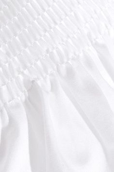 Victoria, Victoria Beckham - Smocked Poplin-trimmed Cotton-jersey T-shirt - White - x small