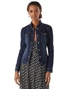 White House   Black Market Denim Jacket #whbm Have it  great jacket!