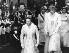 1982-11-03 Diana and Charles attend the State Opening of Parliament in the House of Lords, Palace of Westminster, with the Royal Family
