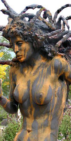 Another amazing cast bronze medusa.