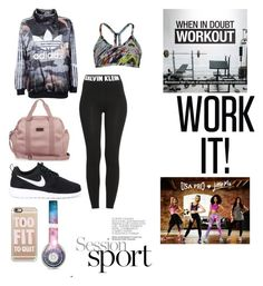 """""""look good while working out!"""" by chloe-ashforth on Polyvore featuring adidas Originals, Calvin Klein, CCM, NIKE, Casetify, adidas and Beats by Dr. Dre"""