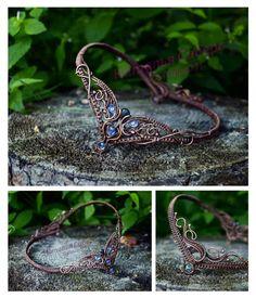Kyanite Circlet. Wire wrap art.