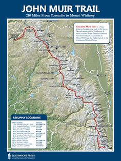 John Muir Trail Map - must do this one day
