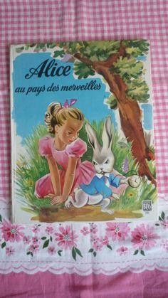 Livre pour enfants Alice au pays des merveilles édition 1978 - children's book Alice in wonderland