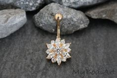 Crystal Flower Belly Button Ring Ohrstecker in Gold bei MyBodiArt piercing piercing piercing piercing piercing piercing men piercing piercing piercing piercing Piercing Cartilage, Bellybutton Piercings, Piercing Ring, Ear Piercings, Ear Gauges, Cute Belly Rings, Belly Button Rings, Belly Button Piercing Jewelry, Steam Punk Jewelry