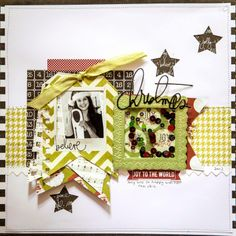 Creative Mayhem: Christmas Layouts using Heidi Swapps 'Believe' Christmas 2013 Range