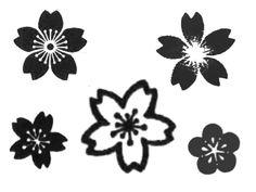 Black and white sakura
