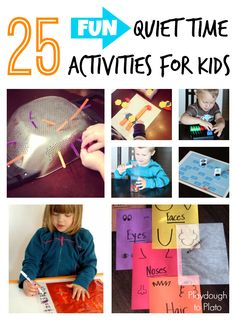 25 Fun Quiet Time Activities - Playdough To Plato, Including a squish and seek sight word game which looks like lots of fun! Quiet Time Activities, Motor Activities, Educational Activities, Learning Activities, Preschool Activities, Preschool Projects, Kids Crafts, Teaching Ideas, Craft Projects