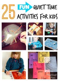 25 Fun Quiet Time Activities - Playdough To Plato