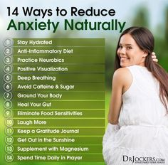 14 Ways to Reduce Anxiety Naturally - http://DrJockers.com #NaturalAnxietyRelief