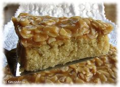 One of my favourites: Finnish toscakakku (with caramelly almond topping). Finnish Recipes, Sweet Pastries, Almond Cakes, Pastry Cake, Yummy Cakes, No Bake Cake, Cupcake Cakes, Cake Recipes, Sweet Tooth