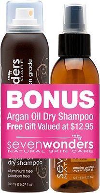 Seven Wonders Moroccan Argan Oil 125ml+Argan Oil Dry Shampoo 150ml #christmas #xmas #haircare