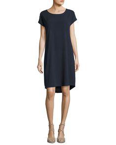 Go Raw Silk Shift Dress