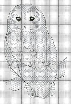 - Blackwork_Owls - CrossStich