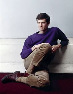 This outfit that Anthony Perkins is wearing is from the 1960s and look how perfect it looks. You could wear it now. Biddy Craft