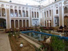 Yazd, binnenplaats van ons hotel.