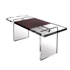 Plexi-Craft Leather Wrap Desk