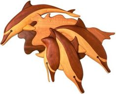 dolphin_family_ intarsia_woodworking_patterns