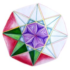 Age 12 Geometria- Georgina Navarro 8th Grade Art, Sixth Grade, Geometry Art, Sacred Geometry, Geometric Designs, Geometric Shapes, Watercolor Mandala, How To Shade, Form Drawing