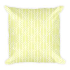 HAND DRAWN ARROWS (PASTEL YELLOW) PILLOW - This soft pillow is an excellent addition that gives character to any space. It comes with a soft polyester insert that will retain its shape after many uses, and the pillow case can be easily machine washed. And it's completely cut, sewn and printed in the USA.