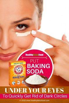 How to use baking soda to get rid of dark circle Healthy Soda, Healthy Detox, Beauty Care, Beauty Skin, Health And Beauty, Dark Circles Under Eyes, Dark Under Eye, Dark Rings Under Eyes, Belleza Diy