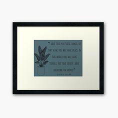 'John Framed Print by JibbJab Framed Art Prints, Canvas Prints, John 16 33, Overcome The World, Take Heart, Off Colour, Box Frames, Glossier Stickers