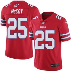 Nike Bills #25 LeSean McCoy Red Youth Stitched NFL Limited Rush Jersey