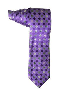 Light Purple Polka Dot Tie with Matching Handkerchief