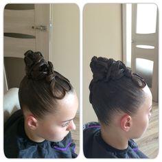 Ballroom hair ideas, dance look, dance hair, high bun #dance #dancelook, #bun