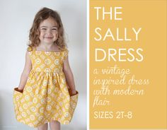 Love love...love this dress!  Add a little top and leggins and it's perfect for fall! Sally Dress Sewing Pattern by www.veryshannon.com