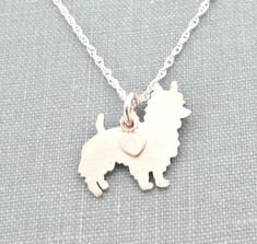 #Australian #Terrier #Dog Necklace, Sterling Silver Personalize Pendant, Breed Silhouette Charm Rescue Shelter, Memorial Gift by DiBAdog on Etsy