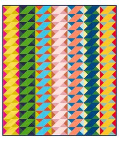 Simple Twist quilt...not keen on these colors, but would be striking in black/grey/white/red.