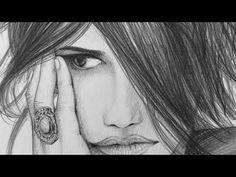 Speed Drawing - Video von Entstehung einer Zeichnung von Penelope Cruz