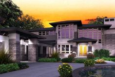 Plan W23480JD: Prairie Style, Photo Gallery, Luxury, Premium Collection, Northwest, Contemporary House Plans & Home Designs