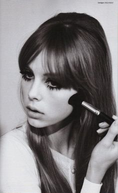 Vintage~esque. Retro 60s/70s look.  Edie Campbell photographed by Jessie Lily Adams. Love the eyes the hair everything!